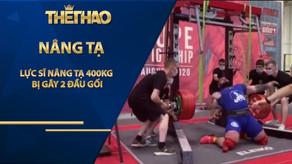 """Lực sĩ nâng tạ 400kg bị gãy 2 đầu gối đăng ảnh """"nếu yếu tim đừng có nhìn"""""""