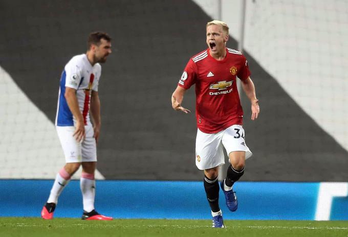 Van De Beek ghi bàn trong trận chính thức đầu tiên cho Man Utd  VUA-THE-THAO
