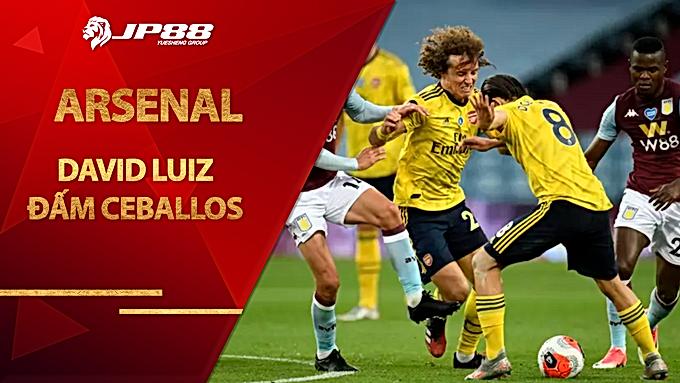 David Luiz đấm Ceballos