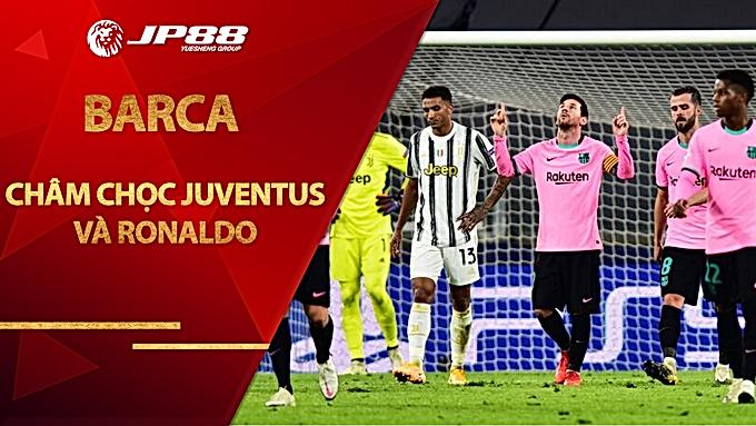 Barca châm chọc Juventus và Ronaldo