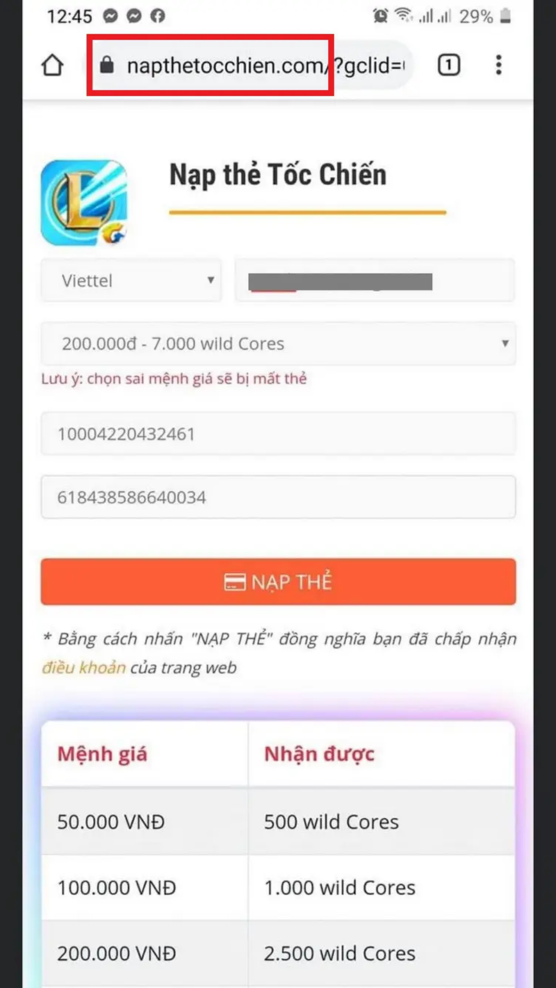 Chú ý tên miền giả mạo trang nạp thẻ của Zing VNG |VNGAMES