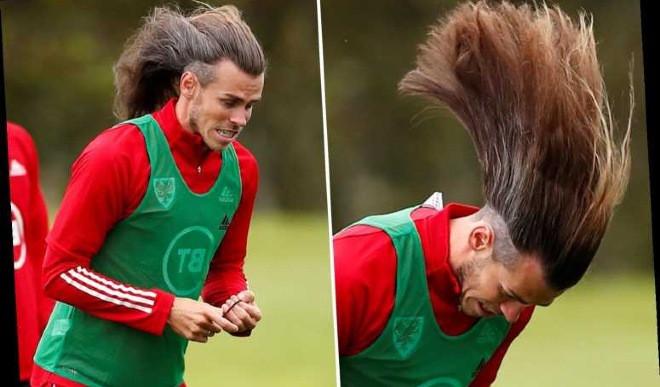 Bale khoe mái tóc siêu dị khi hội quân với tuyển xứ Wales |JP88