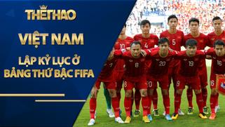 Việt Nam lập kỷ lục ở bảng thứ bậc FIFA