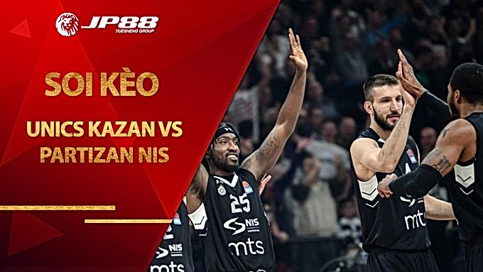 Kèo bóng rổ – UNICS Kazan vs Partizan NIS – 23h00 – 14/10/2020