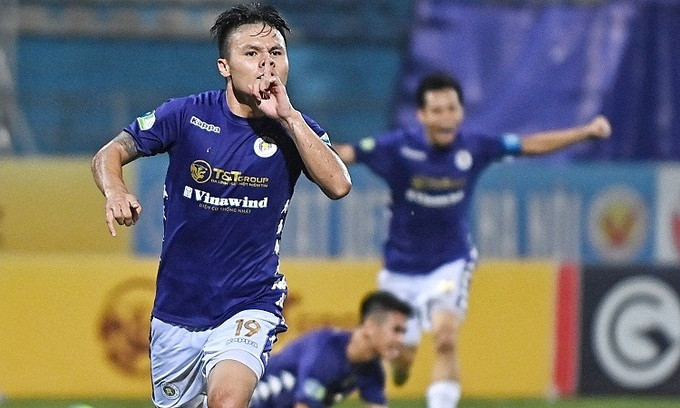 Quang Hải đã ghi bốn bàn và kiến tạo ba lần trong ba trận cuối ở Cup quốc gia  VUA-THE-THAO