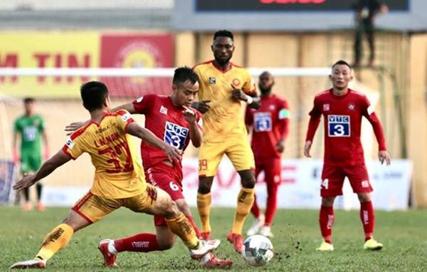 Thanh Hoá (vàng) đang đứng thứ 8 sau 11 vòng ở V-League 2020. |VUA-THE-THAO