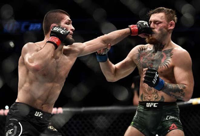 Khabib (trái) từng đánh bại McGregor |VUA-THE-THAO