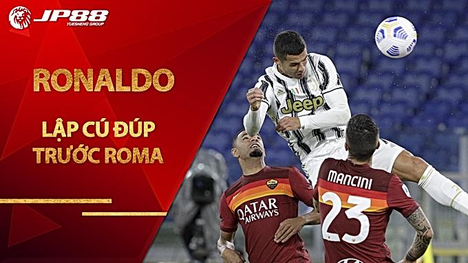 Ronaldo lập cú đúp trước Roma