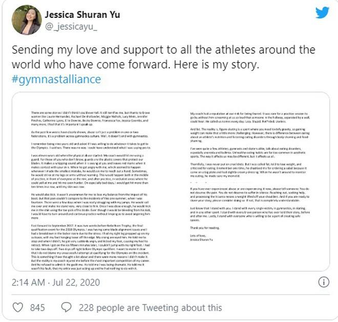 Shuran Yu công khai trên tài khoản Twitter về câu chuyện bị hành hạ ở Trung Quốc |VUA-THE-THAO