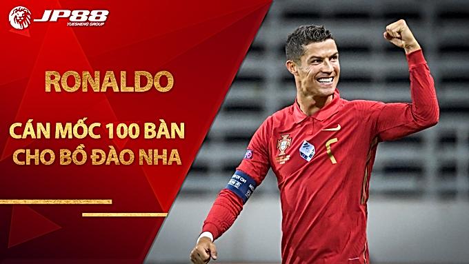 Ronaldo cán mốc 100 bàn cho Bồ Đào Nha