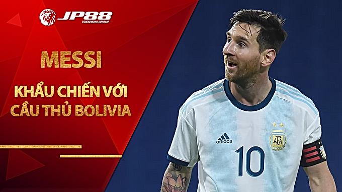Messi khẩu chiến với cầu thủ Bolivia