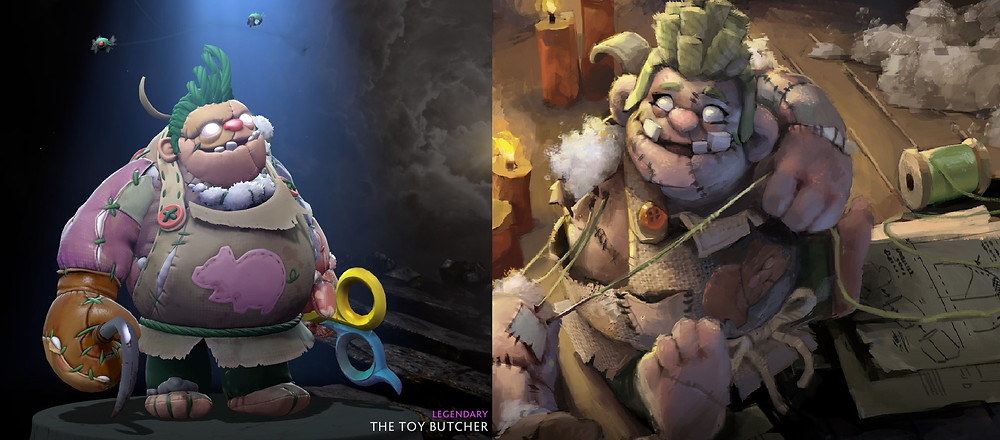 Thực tế và concept art của The Toy Butcher |VUA-THE-THAO
