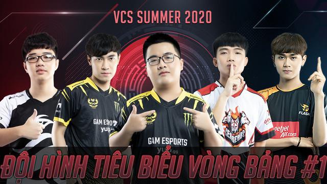 Đội hình tiêu biểu số 1 của VCS quy tụ những nhân tố thi đấu nổi bật nhất vòng bảng  VUA-THE-THAO