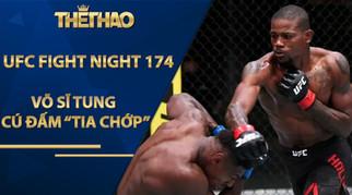 """Mãn nhãn UFC: Võ sĩ tung cú đấm """"tia chớp"""", đối thủ bị bay """"vật thể lạ"""""""