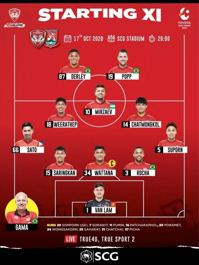 Văn Lâm tiếp tục góp mặt trong đội hình chính của Muangthong Utd |VUA-THE-THAO