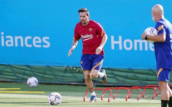 Messi trong buổi tập mới đây của Barca |VUA-THE-THAO