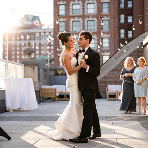 Justin & Katie - A Providence Rooftop Black Tie Affair