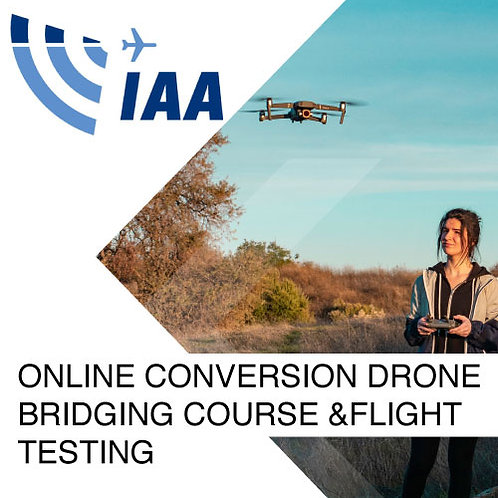 Online Conversion Drone Bridging Course and Flight Testing