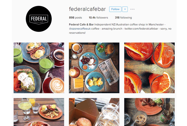 Social Media Marketing | Manchester | Federal Cafe Bar