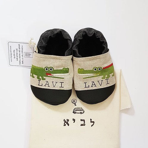 נעלי קרוקודילים עם שם | נעלי טרום הליכה