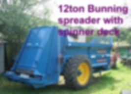12t manure spreader with spinner deck