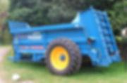 Bunning lowlander 120 manure spreader for hire