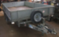 Ifor Williams flat bed trailer for hire