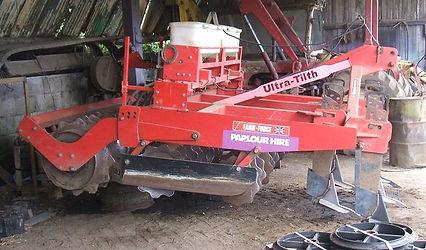 Min till cultivator and seeder for hire