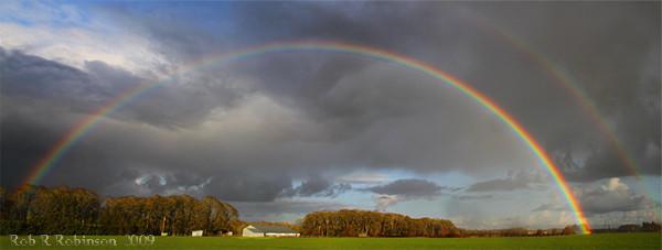 Willamette Valley rainbow by Rob Robinson