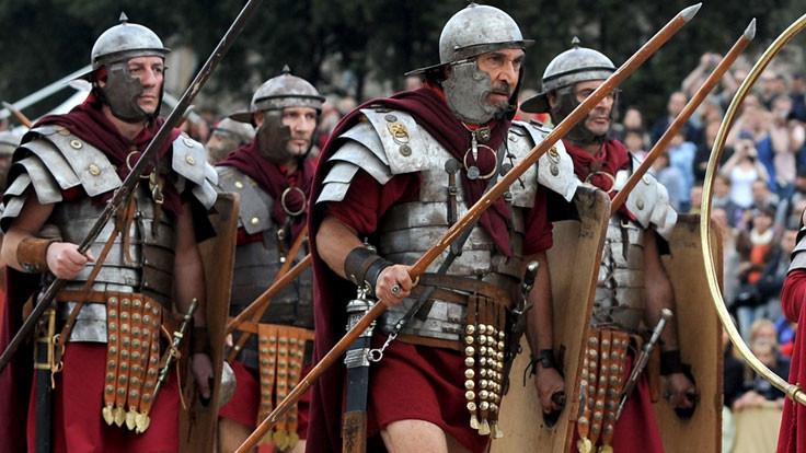 Roman soldiers were well-armed
