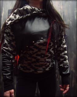 leather hardware sweater