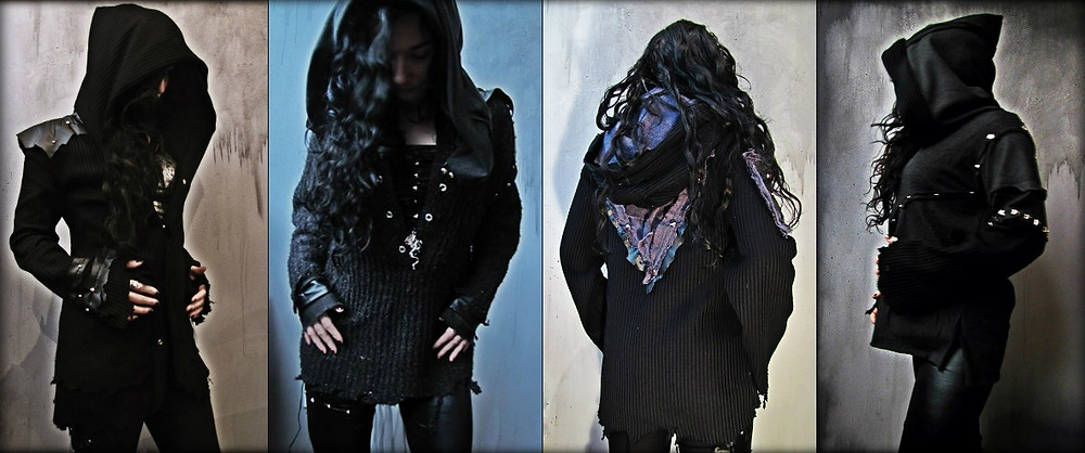 gothic medieval viking cloaks and sweaters