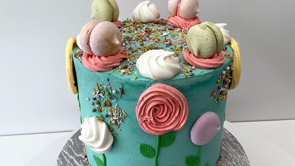 Plant Macaron Cake