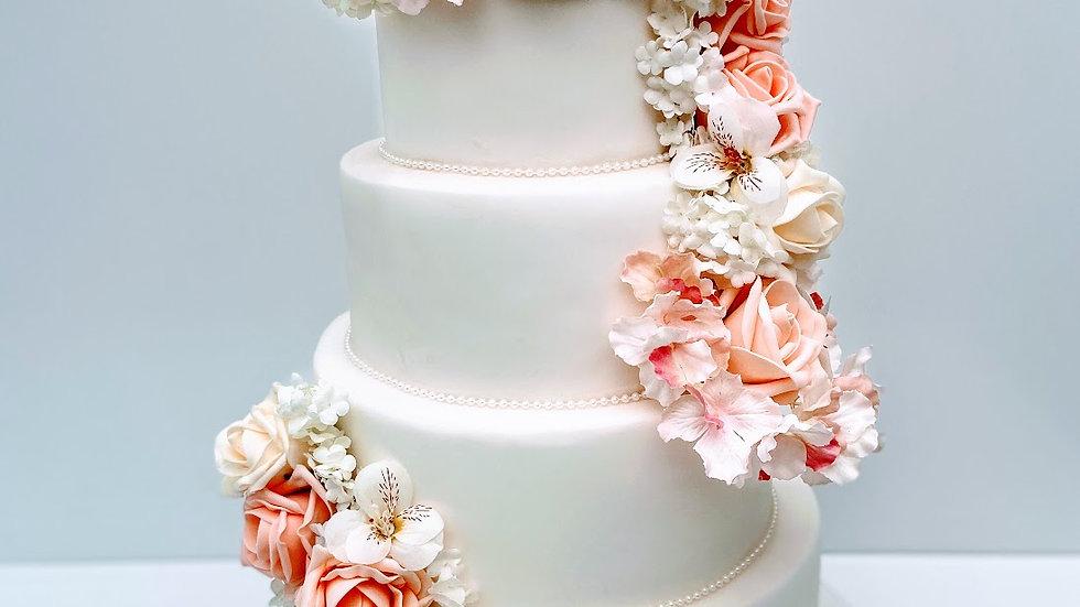 Summer Bloom Wedding Cake