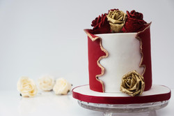 Red Wrap around cake