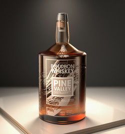 Pine Vally Concept Bottle and Logo Artwo