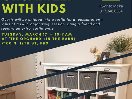 WORKSHOP: How to Stay Organized with Kids