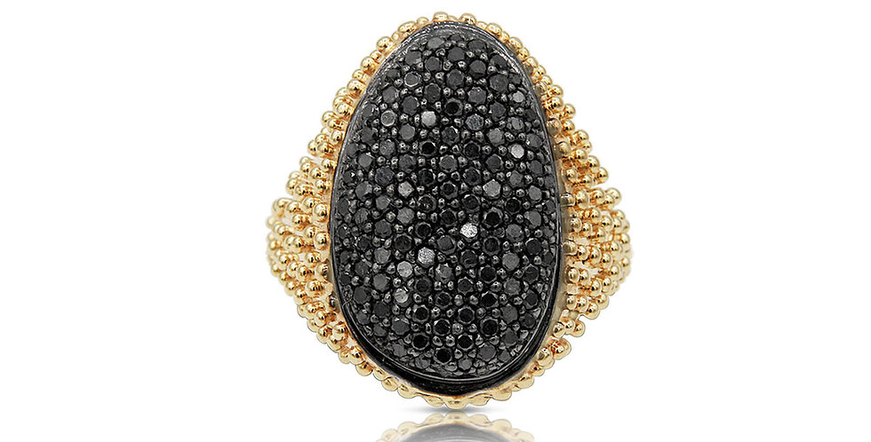 Black Caviar Ring
