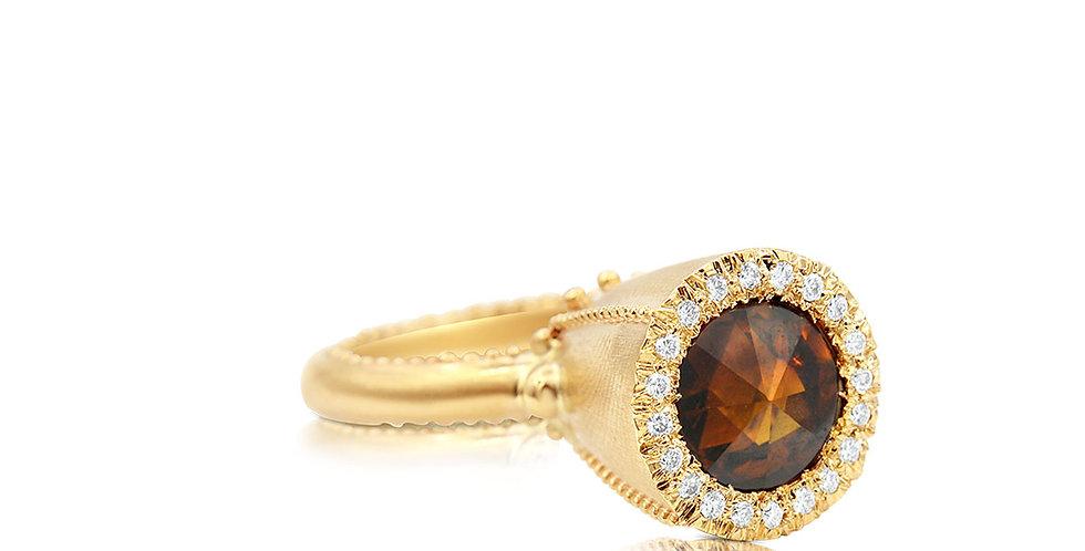 Mandarin Spessartite Ring