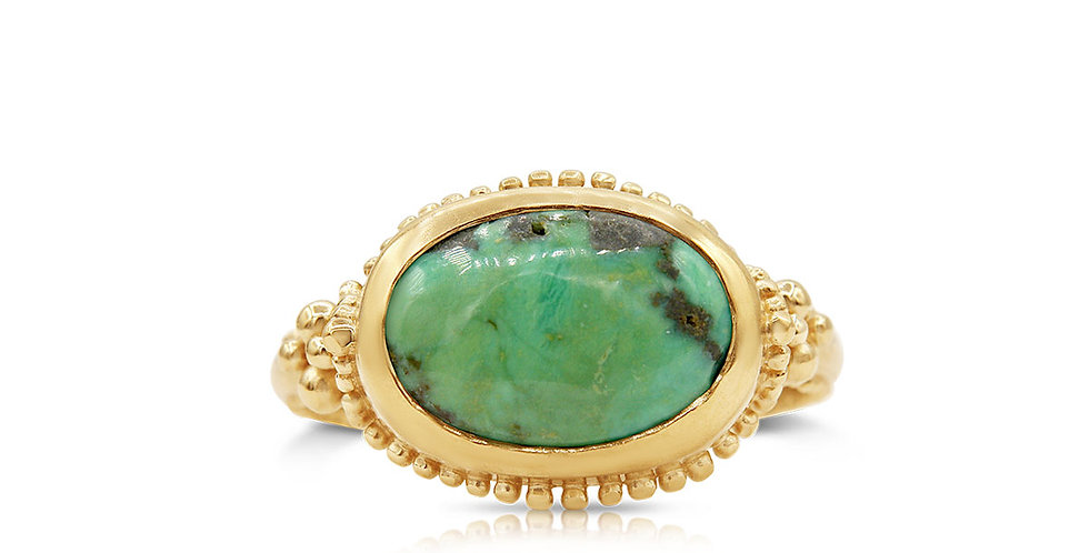 One of a Kind Turquoise East West Ring