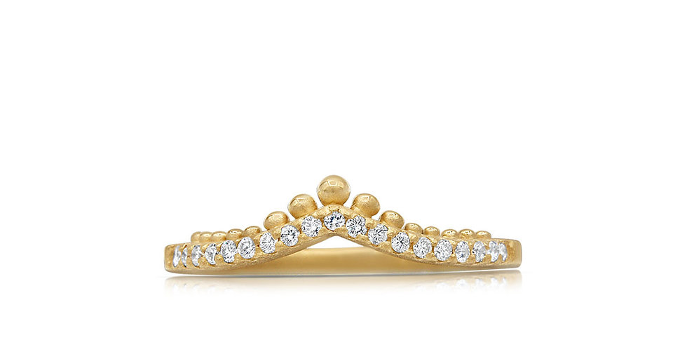 Tapering Diamond Ring