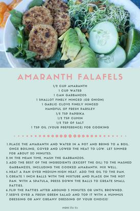 Amaranth Falafels