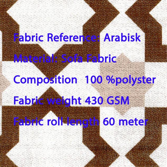 ARABISK Sofa Furnishing Fabric