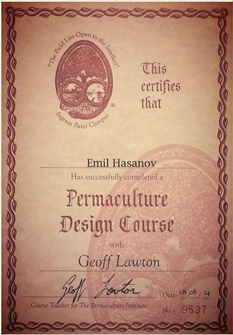 Сетификат пермакультурного дизайнера