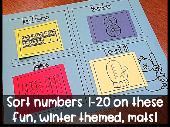 Winter Centers and Activities for PreK-1st
