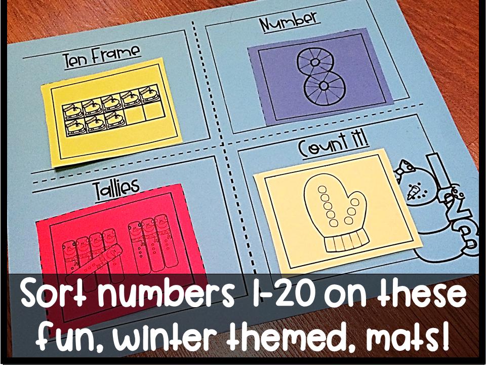 Winter Number Sense Mats