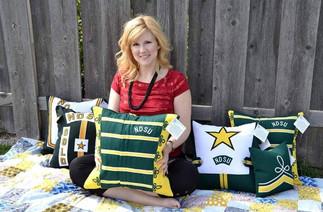 Upcycled NDSU Uniform Pillows.jpg