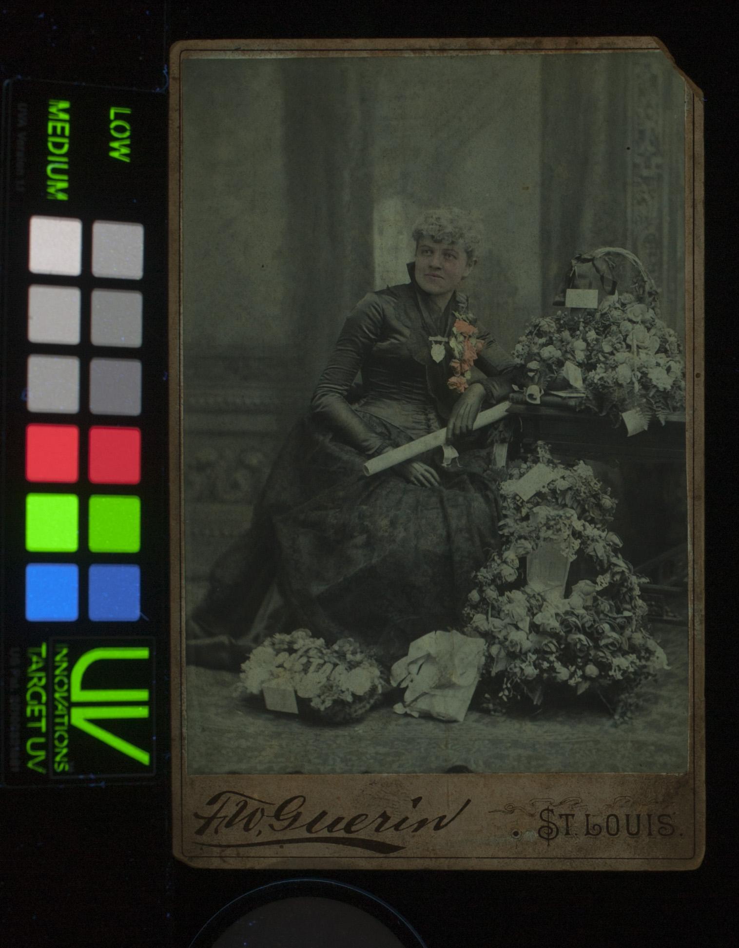 UV-vis, handpainted photograph