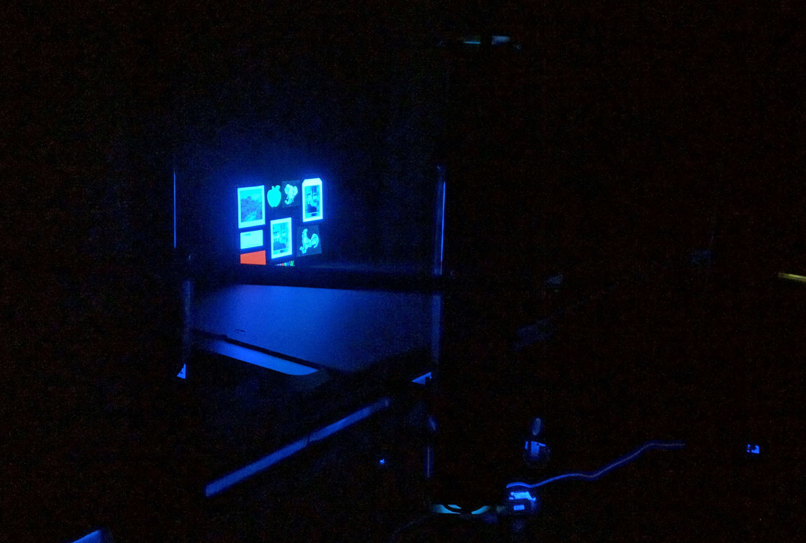 UV-vis working shot