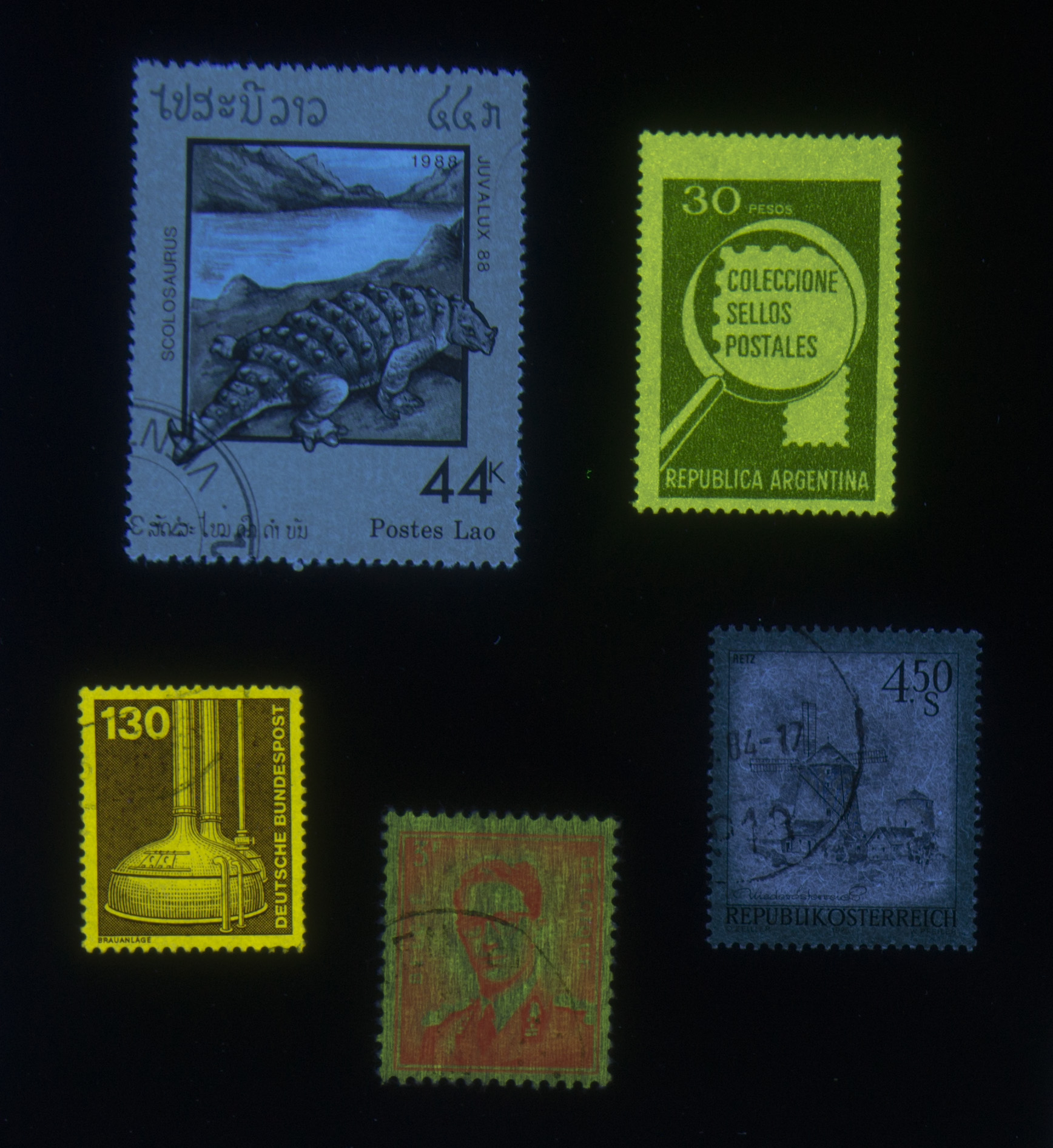 UV-vis, stamps